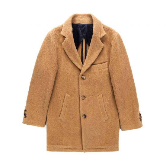 Cappotto revers e tasche in panno misto lana | Nupkeet moda bambino