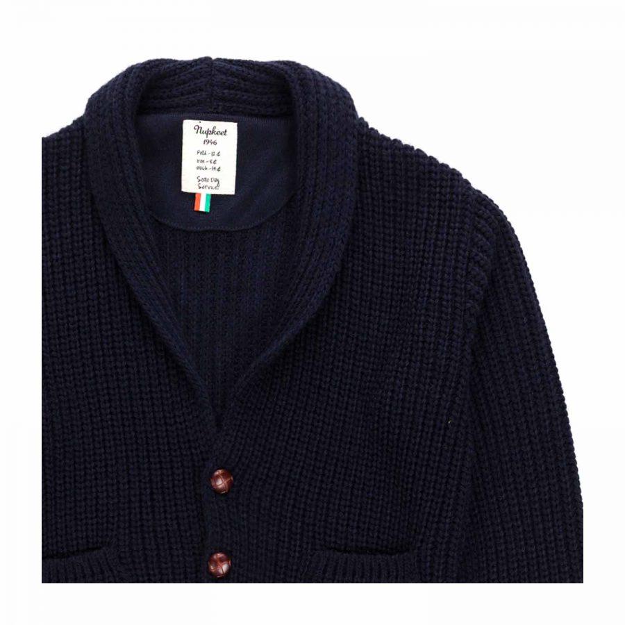 Giacca scollo a V tasche in tricot costa inglese | Nupkeet Moda Bambino