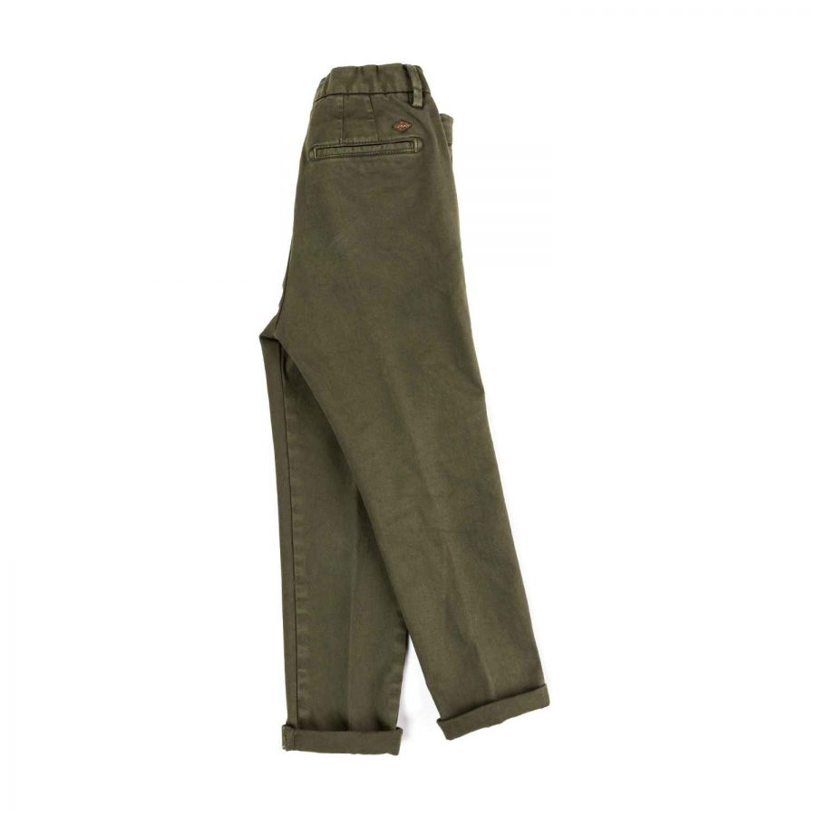 Pantalone lungo con tasche in operato tinto capo | Nupkeet moda bambino
