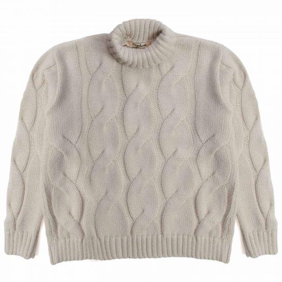 Nupkeet 1946 - Orso panna - Pullover collo alto in tricot