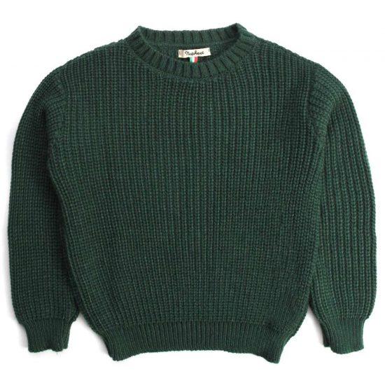 Nupkeet 1946 - Cormorano verdone - Pullover in tricot a coste