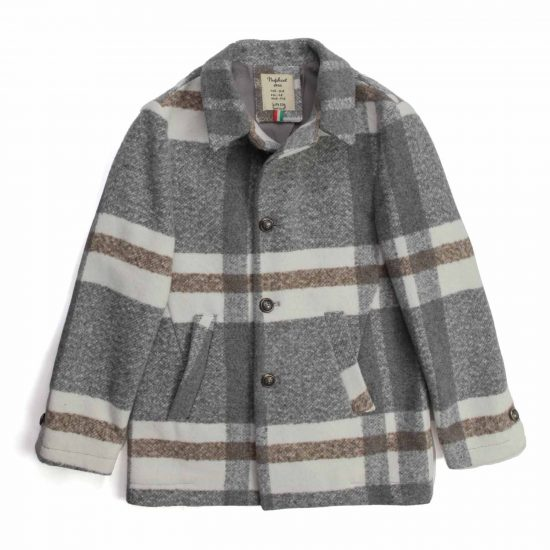 Nupkeet 1946 - Lumaca grigio e panna - Giaccone in panno scozzese