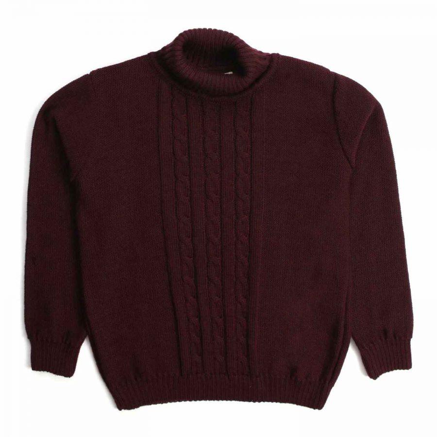 Nupkeet 1946 - Cane prugna - Pullover collo alto in tricot