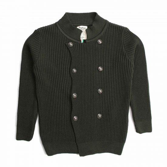 Nupkeet 1946 - Passero verde militare - Giacca in tricot costa inglese