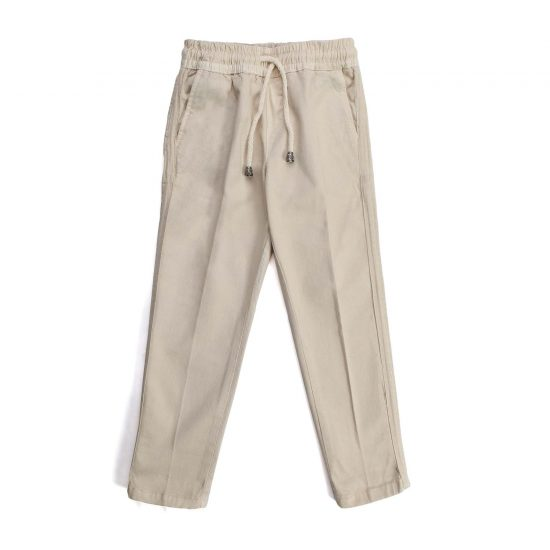 Nupkeet 1946 - Cream Cefalo - Baby and boy gabardine trousers
