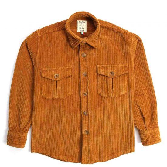 Nupkeet 1946 - Coccodrillo gianduia - Giacca a camicia in velluto
