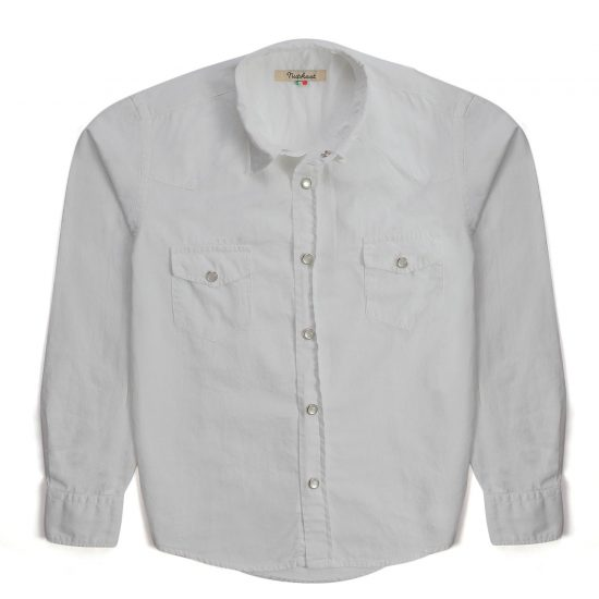 Nupkeet 1946 - Gufo grigio chiaro(bianco?) - Camicia texana in gabardine