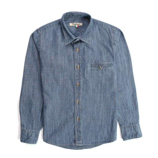 Nupkeet 1946 - Gazza blu - Camicia in chambray bambino e teenager