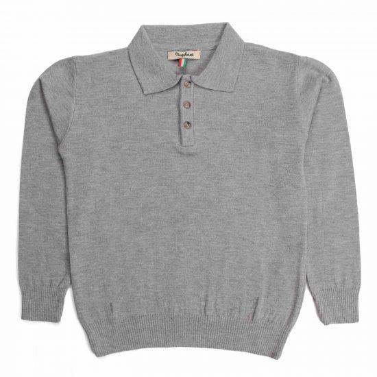 Gnu - Polo in tricot stretch grigio chiaro - Nupkeet 1946