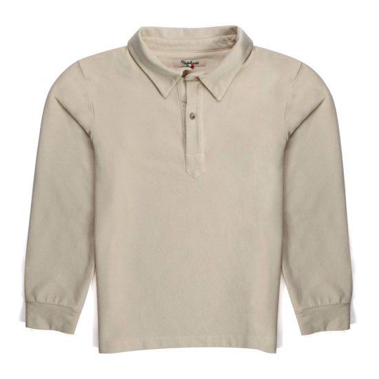 Nupkeet 1946 - Cream Ippo - Long sleeve fleece polo shirt