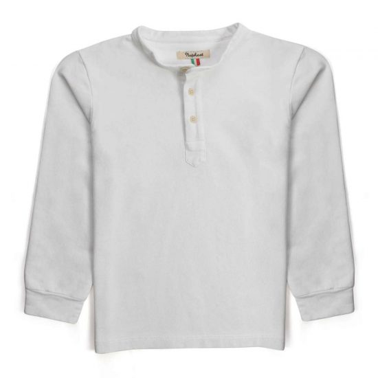 Nupkeet 1946 - White Criceto - Long sleeve henley t-shirt