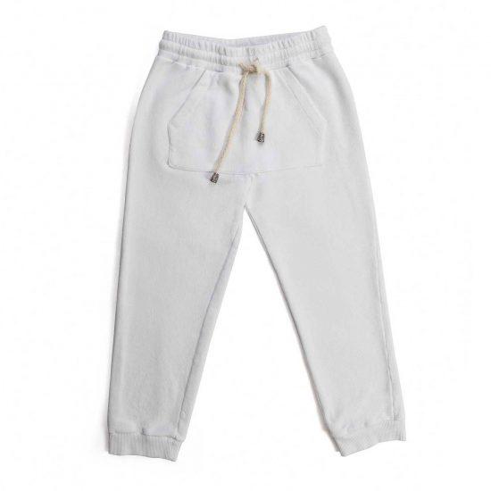 Nupkeet 1946 - White Puzzola - Sweatpants with drawstring