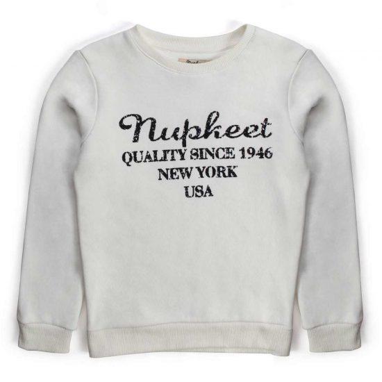 Nupkeet 1946 - Gray Marmotta - Crewneck sweatshirt for boys and teenagers